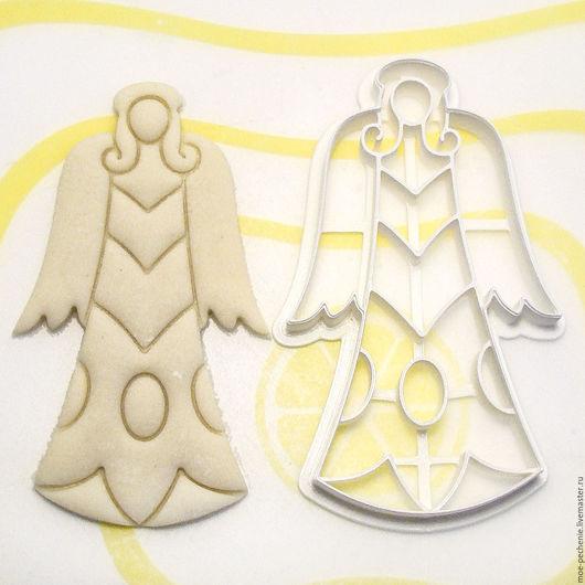 Ангел №3. Вырубка-штамп для пряников, печенья, мастики, поделок из соленого теста. Образец вырубки из соленого теста.