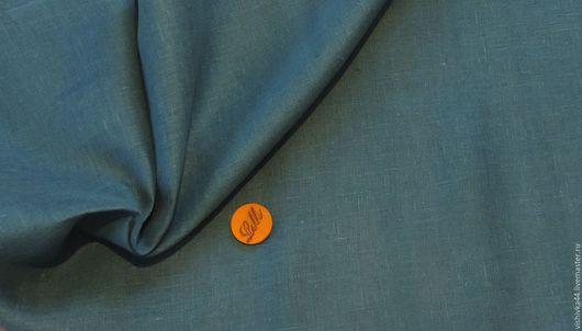 Шитье ручной работы. Ярмарка Мастеров - ручная работа. Купить ткань лен сетка темно бирюзовый. Handmade. Лен