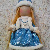 Куклы и игрушки ручной работы. Ярмарка Мастеров - ручная работа Текстильная кукла Снегурочка. Handmade.