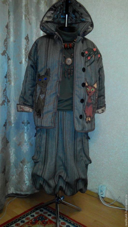 """Верхняя одежда ручной работы. Ярмарка Мастеров - ручная работа. Купить Оч.теплая куртка из шерсти """"Кото-феи"""". Handmade."""