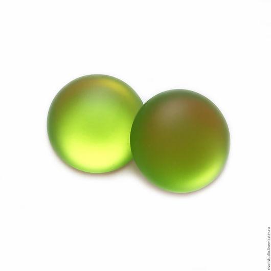 Для украшений ручной работы. Ярмарка Мастеров - ручная работа. Купить Lunasoft кабошон  18 мм Lime круглый. Handmade.