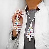 Украшения handmade. Livemaster - original item Pendant-Christmas toy White Christmas tree. Handmade.