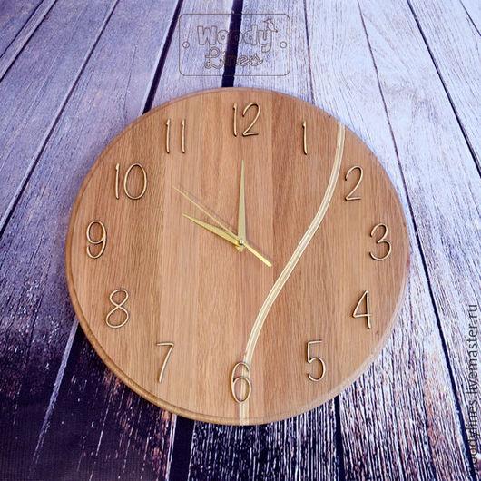 Часы для дома ручной работы. Ярмарка Мастеров - ручная работа. Купить Часы дубовые Vein. Handmade. Бежевый, настенные часы