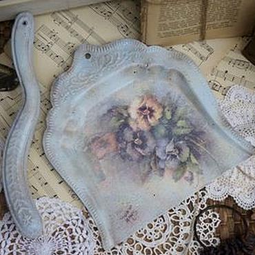 Для дома и интерьера ручной работы. Ярмарка Мастеров - ручная работа Совок со щёткой Vintage Flowers. Handmade.