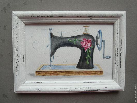 Натюрморт ручной работы. Ярмарка Мастеров - ручная работа. Купить Мастерица. Handmade. Акварель, прованский стиль, дерево