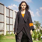 Одежда ручной работы. Ярмарка Мастеров - ручная работа КМГ_001 Пальто ассиметричное с углом с крестом на рукаве. Handmade.