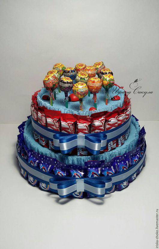 Персональные подарки ручной работы. Ярмарка Мастеров - ручная работа. Купить ТОРТ из MillkyWay и KitKat подарок для ребенка. Handmade. Торт