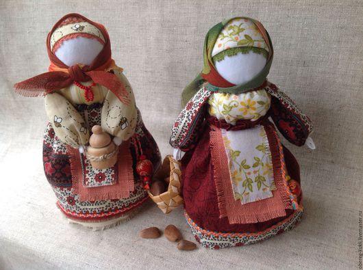 """Народные куклы ручной работы. Ярмарка Мастеров - ручная работа. Купить Авторские куклы """"Медовый"""" и """"Ореховый Спас"""" по мотивам Народной куклы. Handmade."""