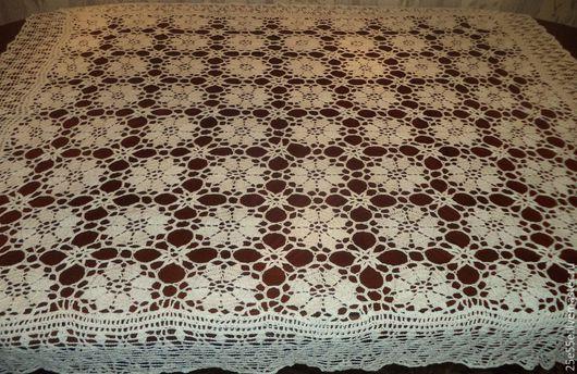 Текстиль, ковры ручной работы. Ярмарка Мастеров - ручная работа. Купить Скатерть с каймой.. Handmade. Белый, интерьер, домашний уют