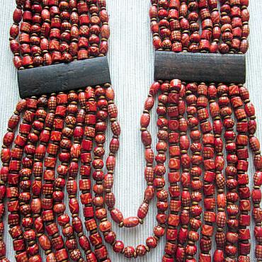"""Украшения ручной работы. Ярмарка Мастеров - ручная работа Длинные деревянные бусы """"Native"""". Handmade."""