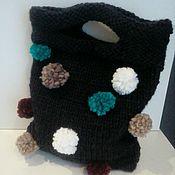 Сумки и аксессуары handmade. Livemaster - original item The bag: Knitted handbag with POM-POM. Handmade.