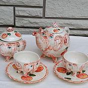 """Посуда ручной работы. Ярмарка Мастеров - ручная работа Чайный набор """"Слоны редкой породы"""". Handmade."""