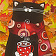 Мммм. Осень!. Витражная роспись по стеклу, Животные, Ставрополь, Фото №1