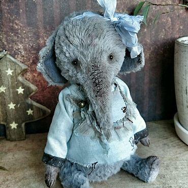 Куклы и игрушки ручной работы. Ярмарка Мастеров - ручная работа Серый слон. Handmade.