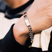 Украшения handmade. Livemaster - original item Classic bracelet from a jewelry steel under an engraving unisex. Handmade.
