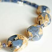 Украшения handmade. Livemaster - original item High above the Ground, Necklace of natural chalcedony, tanzanite, silver. Handmade.