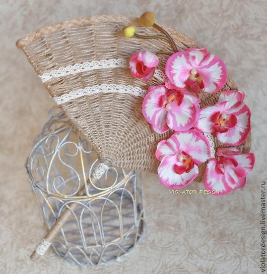 """Свадебные цветы ручной работы. Ярмарка Мастеров - ручная работа. Купить свадьба, букет для невесты ВЕЕР - """"ЧИО -ЧИО -САН"""". Handmade."""