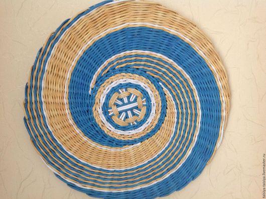 Для дома и интерьера. Тарелка плетеная панно `5`.Ярмарка Мастеров-ручная работа. Купить тарелку настенную плетеную. Handmade. Тарелка настенная.ТаисиЯ.
