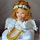 Коллекционные куклы ручной работы. Ярмарка Мастеров - ручная работа. Купить Ангел. Handmade. Белый, кукла, хлопок 100%