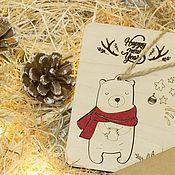 """Открытки ручной работы. Ярмарка Мастеров - ручная работа Открытка-игрушка """"Медвежонок"""". Handmade."""