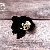 Украшения ручной работы. Ярмарка Мастеров - ручная работа Черная орхидейка мини. Handmade.