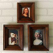 Картины и панно ручной работы. Ярмарка Мастеров - ручная работа Интерьерная композиция из трех картин. Handmade.