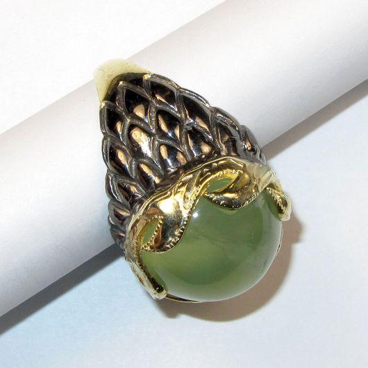 Кольца ручной работы. Ярмарка Мастеров - ручная работа. Купить Кольцо с пренитом серебряное. Handmade. Мятный, перстень, пренит натуральный
