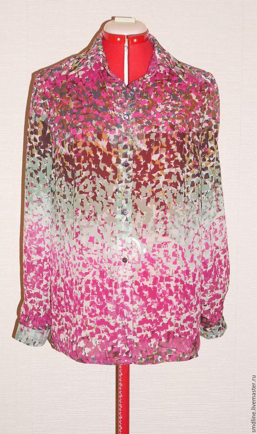 Блузки ручной работы. Ярмарка Мастеров - ручная работа. Купить Блузка из натурального шелка. Handmade. Комбинированный, блуза женская