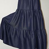 Одежда ручной работы. Ярмарка Мастеров - ручная работа Юбка синева. Handmade.