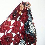 """Аксессуары ручной работы. Ярмарка Мастеров - ручная работа Шаль """"Цветы осени"""". Handmade."""