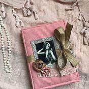 Блокноты ручной работы. Ярмарка Мастеров - ручная работа Блокнот «Пыльная роза». Handmade.