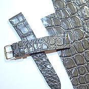Ремешок для часов ручной работы. Ярмарка Мастеров - ручная работа Ремешок для часов из крокодиловой кожи. Handmade.