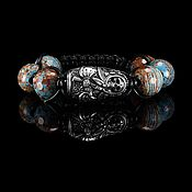handmade. Livemaster - original item Bracelet Death a la Russe AK 47 chrysocolla.. Handmade.