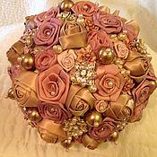Свадебный салон ручной работы. Ярмарка Мастеров - ручная работа Букет невесты из брошей. Handmade.