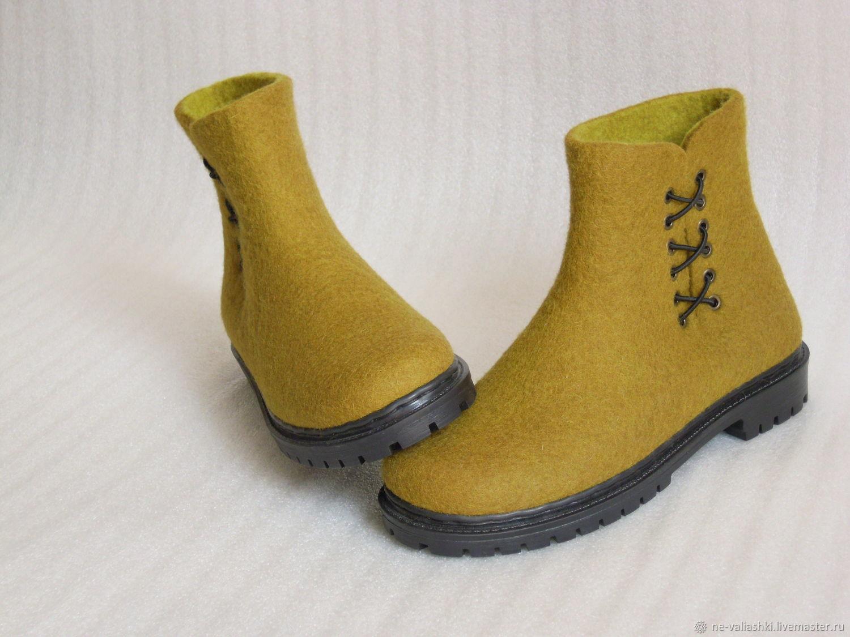 Ботинки валяные демисезонные, Обувь, Кременчуг, Фото №1