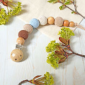 "Куклы и игрушки handmade. Livemaster - original item Держатель для пустышки ""Эко-стиль"". Handmade."