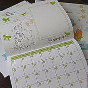 """Подарки к праздникам ручной работы. Ярмарка Мастеров - ручная работа Альбом первого года жизни """"Мой первый год жизни"""" Календарь. Handmade."""