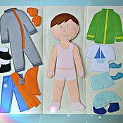 Куклы и игрушки ручной работы. Ярмарка Мастеров - ручная работа Одень мальчика (на липучках) + чехол. Handmade.