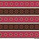 Декупаж и роспись ручной работы. Ярмарка Мастеров - ручная работа. Купить Орнамент в розовых тонах (D100601) - рисовая бумага, А4. Handmade.