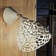 Lamp ceiling swivel. Woven ceramics Elena Zaichenko