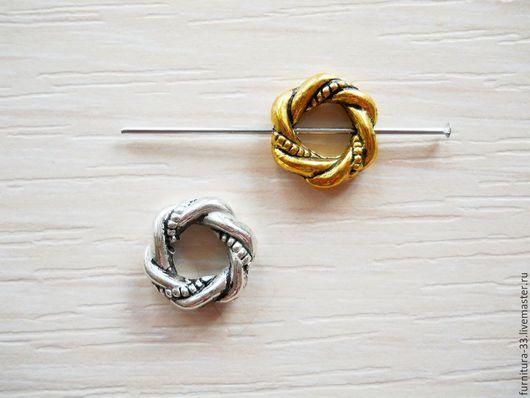 Для украшений ручной работы. Ярмарка Мастеров - ручная работа. Купить Рамки для бусин. Витое кольцо. Два цвета.. Handmade.