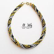 Necklace handmade. Livemaster - original item Wiring of the beads In the moonlight. Handmade.