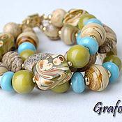 Украшения handmade. Livemaster - original item Infinity bracelet with Jasper. Handmade.