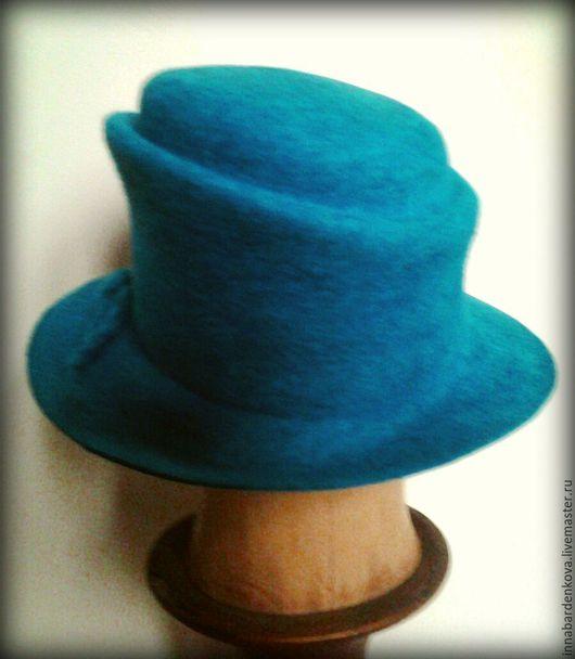"Шляпы ручной работы. Ярмарка Мастеров - ручная работа. Купить шляпа "" Незнакомка "". Handmade. Валяная шапка, Валяние"