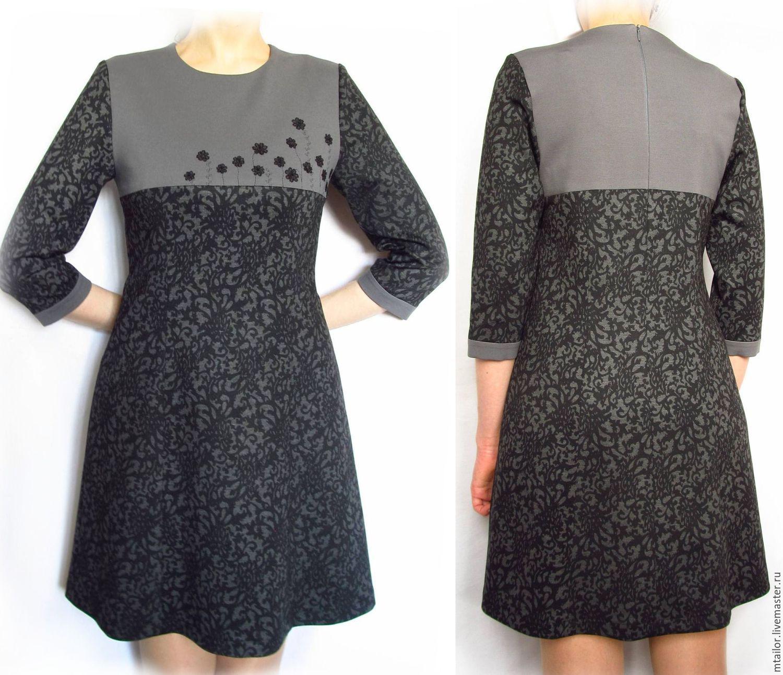 Вышивка на кокетке платья 86
