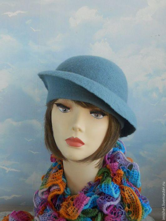 """Шляпы ручной работы. Ярмарка Мастеров - ручная работа. Купить валяная шляпка """"Аэлита"""". Handmade. Голубой, шляпы ручной работы"""
