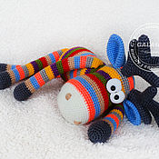 Куклы и игрушки handmade. Livemaster - original item Striped Elk (50cm) knitted toy. Handmade.