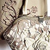 Сумки и аксессуары handmade. Livemaster - original item Women`s shoulder bag Soft genuine leather and lace. Handmade.