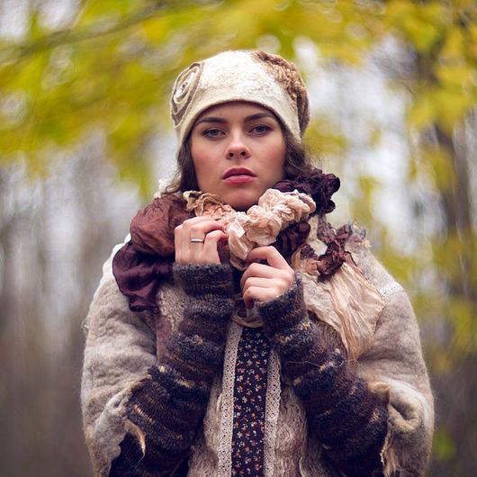 Верхняя одежда ручной работы. Ярмарка Мастеров - ручная работа. Купить «Boho-chic» валяная куртка из коллекции «Две сестры». Handmade.
