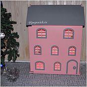 Куклы и игрушки ручной работы. Ярмарка Мастеров - ручная работа Кукольный дом с подсветкой. Handmade.